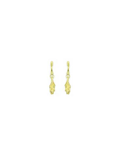 Golden acanthus drop earring (single piece)