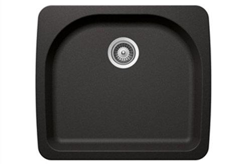 DuraGranit Small Single Bowl - Black Sand
