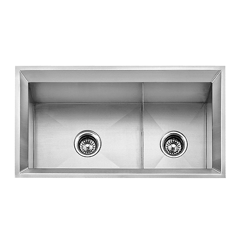 40/60 DOUBLE BOWL UNDERMOUNT KITCHEN SINK