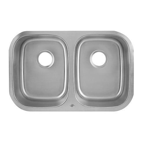50/50 DOUBLE BOWL UNDERMOUNT KITCHEN SINK