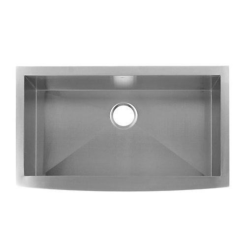 FARMHOUSE KITCHEN SINK, 16 GAUGE STAINLESS STEEL