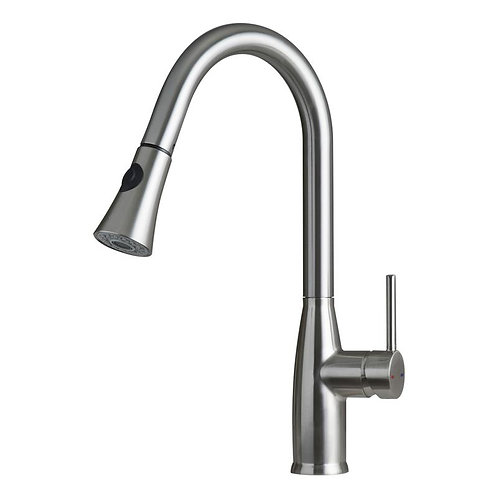 SINGLE HANDLE PULL DOWN KITCHEN FAUCET WITH DUAL SPRAYER