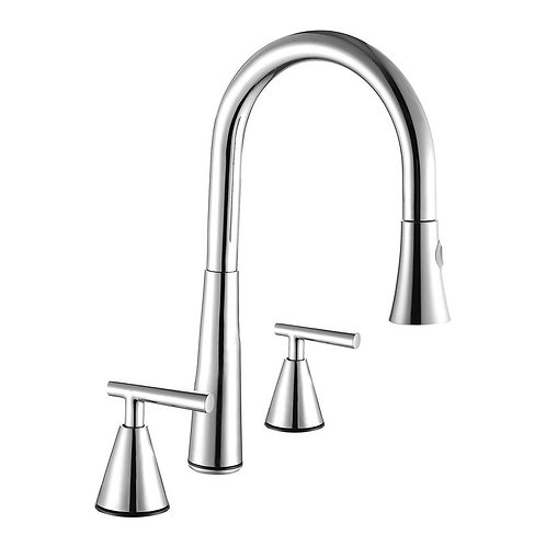 DOUBLE HANDLE PULL DOWN KITCHEN FAUCET