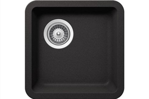 DuraGranit Small Single Bowl Bar/Prep Sink - Black Sand
