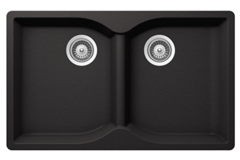 DuraGranit Double Equal Bowl E - Black Sand