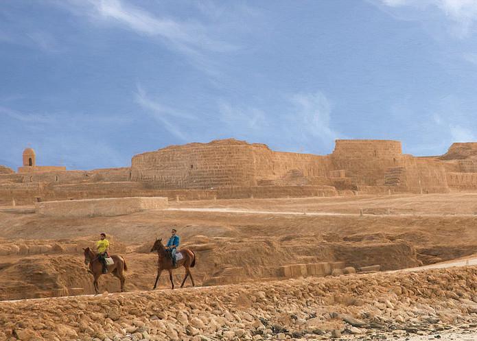 Riding at Bahrain Fort