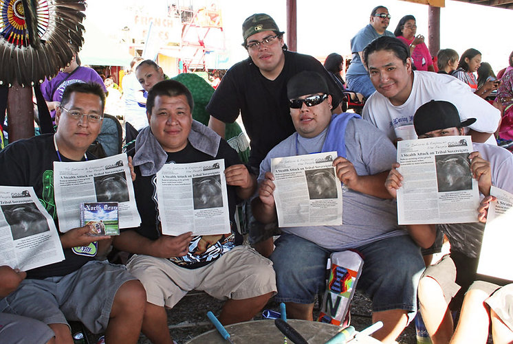 North Bear Drum holds GOAL tribal newspapers re endangered grizzly bears