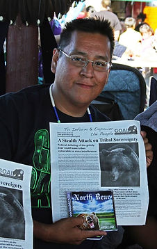 Jermaine Bell of North Bear supports endangered grizzly bears