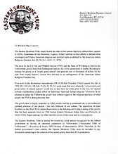 Eastern Shoshone tribal declaration against delisting endangered grizzly bears