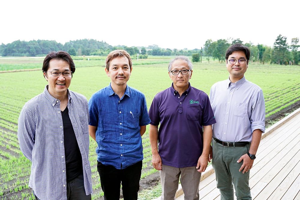左から株式会社KISYABAREE須部さん、株式会社Katasudde川畠さん、株式会社オキス山本さん、保岡