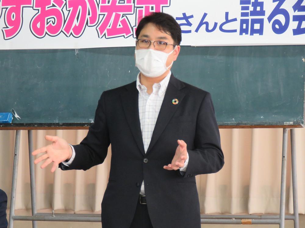 やすおか宏武 地域集会再開!!(小野地区世話人会)