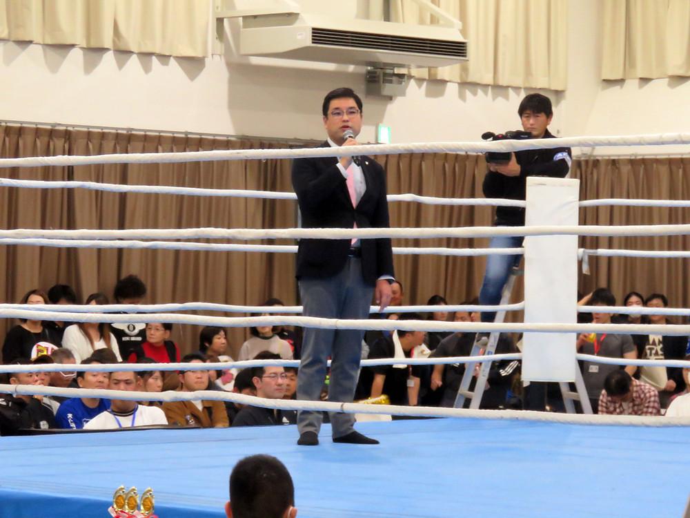 私にとって初めてとなるリングに上がってのスピーチ
