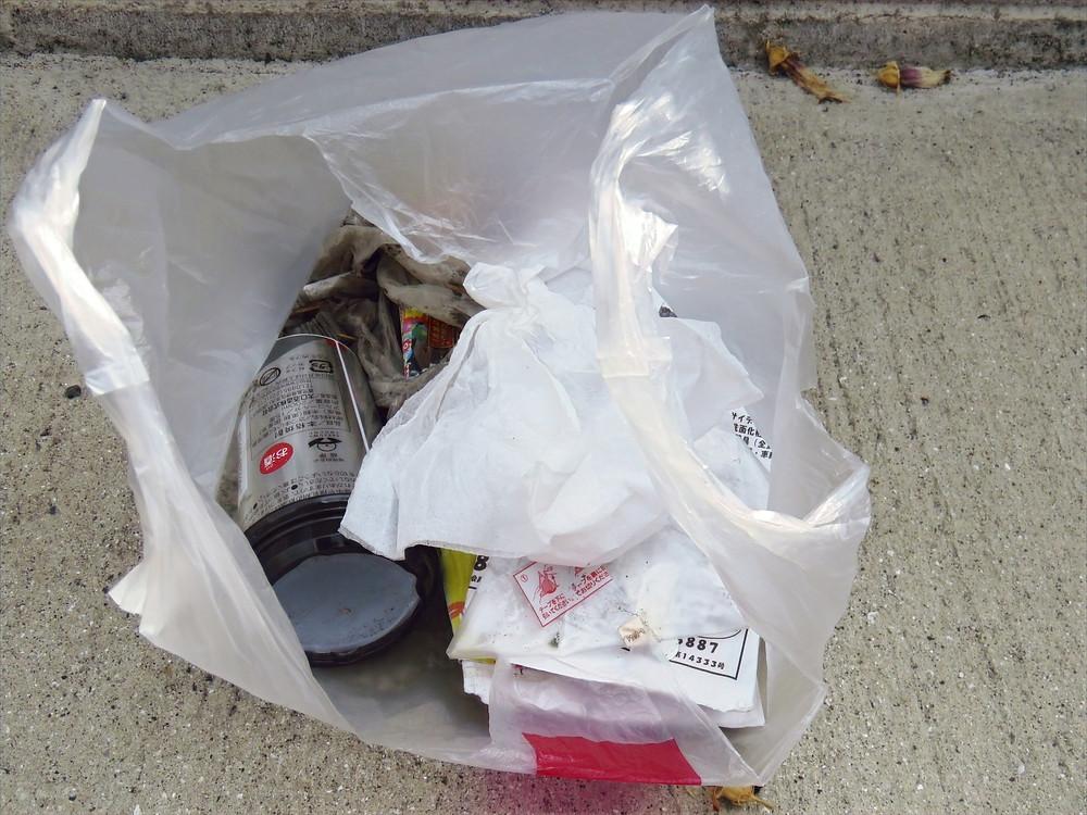 武交差点での辻立ち、ゴミ拾い