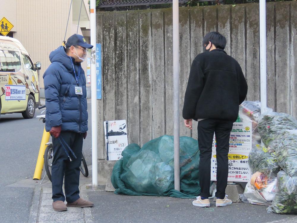 やすおか宏武 ゴミステーションの見守り