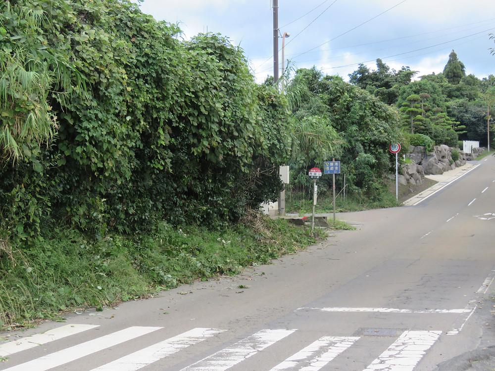 作業後のバス停の様子