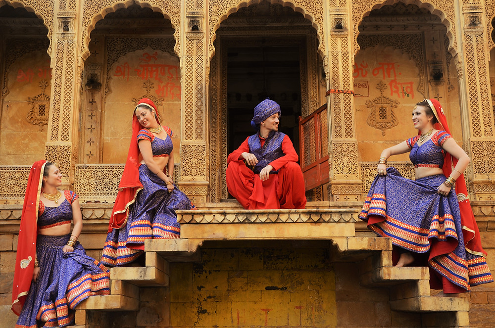 Bollylicious tournee in India: trappen paleis Jasialmer