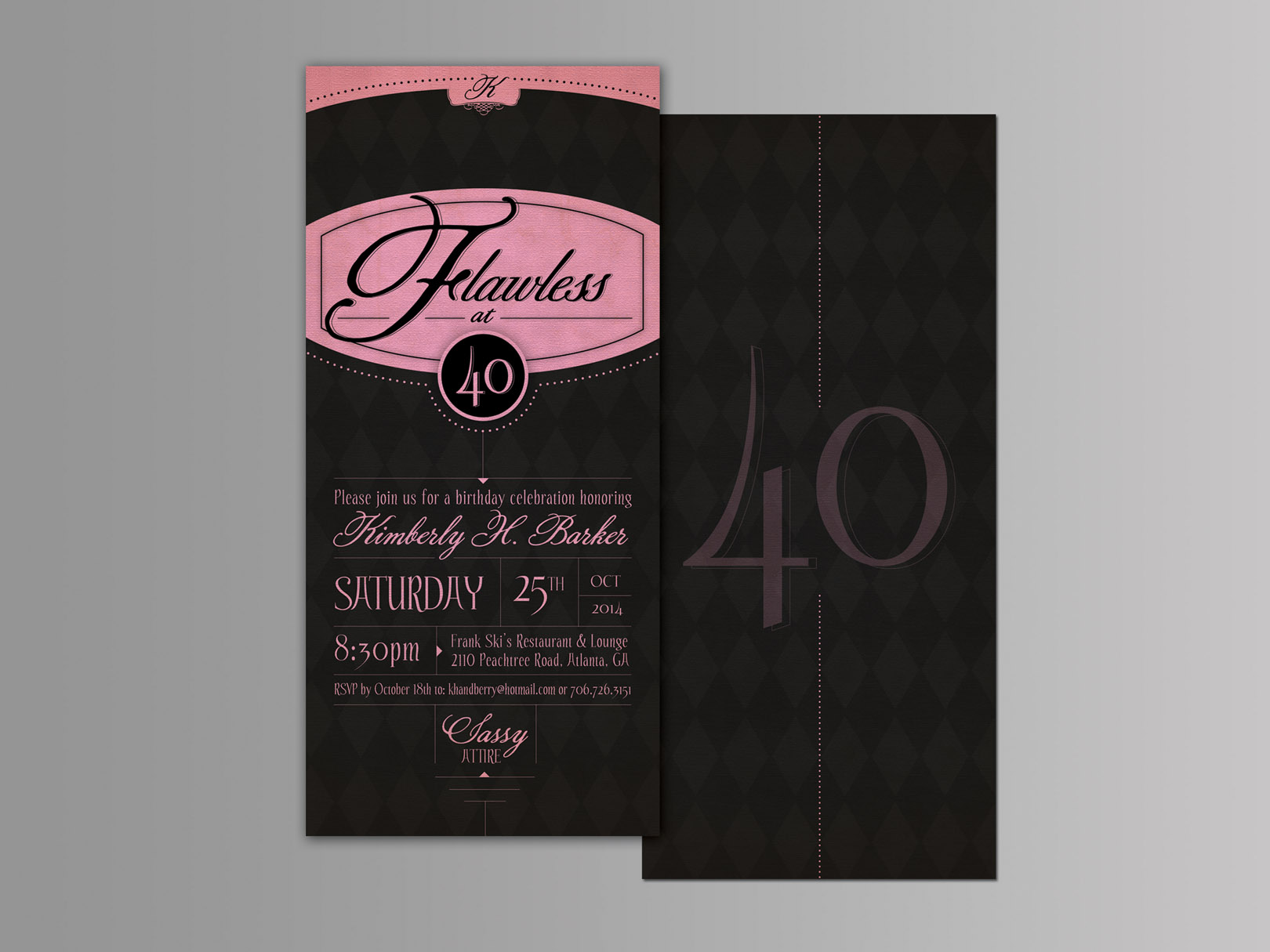 40th B-Day Invitation