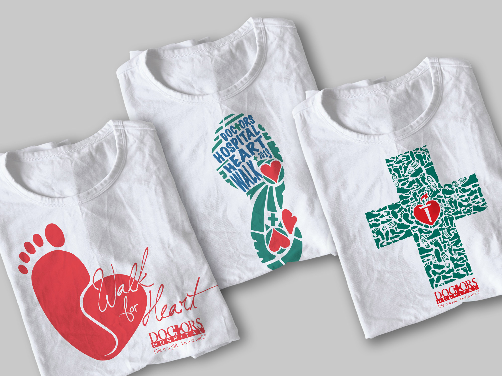 Heart Walk T-Shirt Concepts