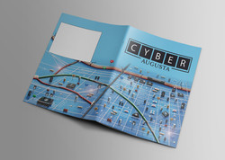Cyber Map Illustration