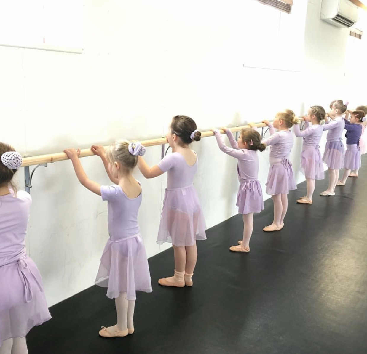 Primary Ballet at the Barre