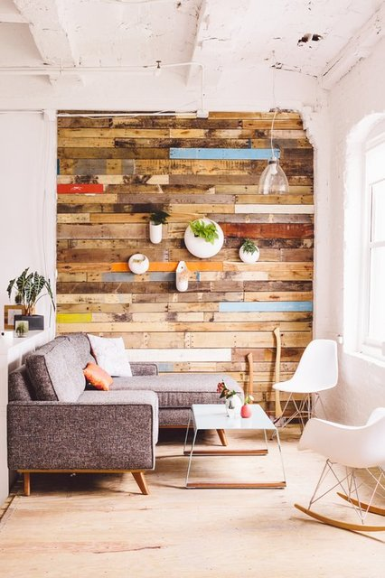 Reclaimed Living Wall