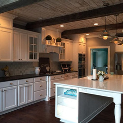 Reclaimed Kitchen Ceiling and Beams