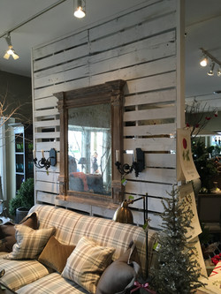 Reclaimed Paneling Divider Wall