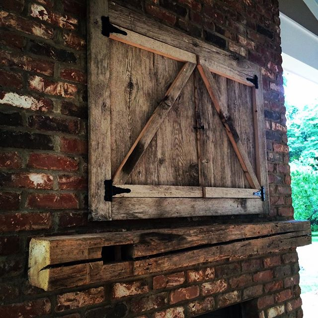 Rustic Barn Beam Mantle