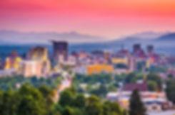Asheville, North Carolina, USA at twilig