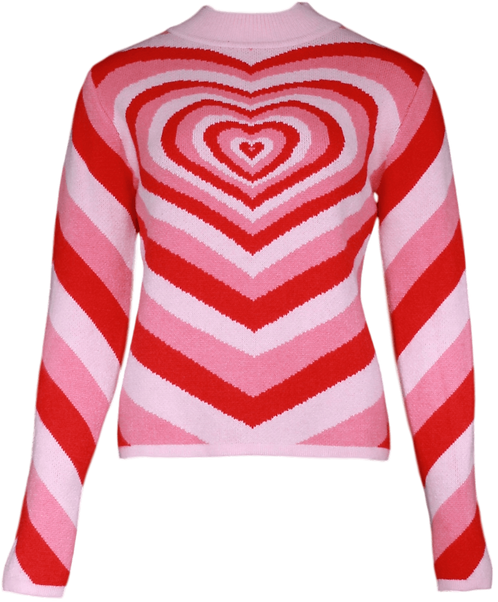 Hearted sweater