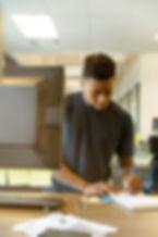 black guy writing linkedin-sales-navigat