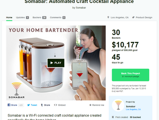 Somabar: Automated Craft Cocktail Mixer