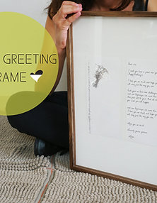 Greeting In A Frame - The Wishing Woodpecker