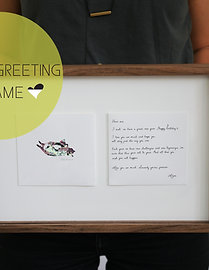 Greeting In A Frame FAT CAT