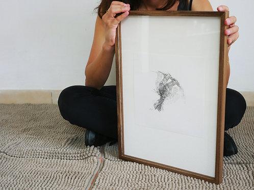 The Wishing Woodpecker (30X40 cm Frame)