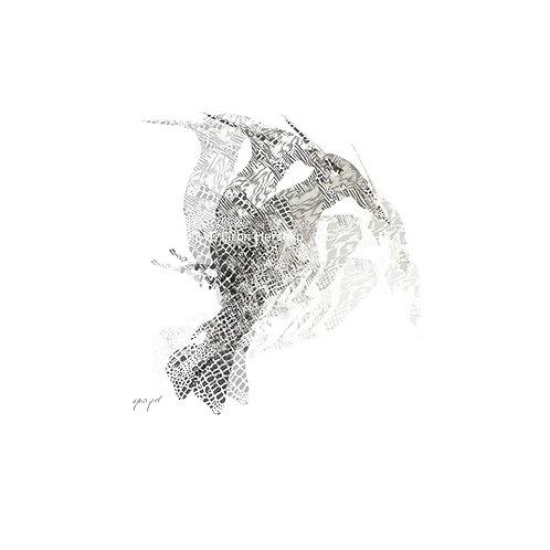 The Wishing Woodpecker (21X21cm)