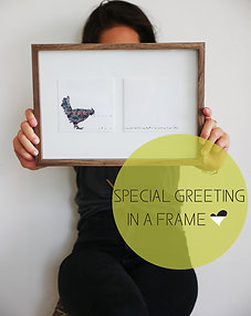 Greeting In A Frame THE COUNTING CHICKEN