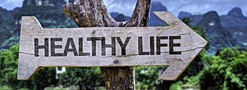 """Healthy Life"" arrow"