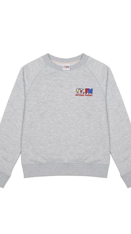 Толстовка с логотипом Детского радио (серая)
