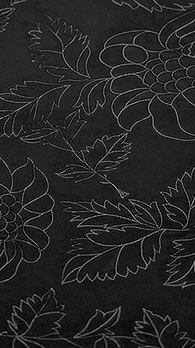 H73 Çiçekli Siyah