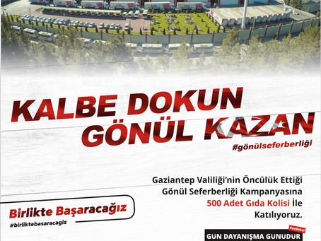 Gaziantep Valiligi Gönül Seferberligi Kampanyası Destegimiz