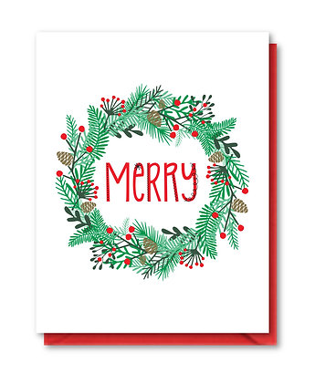 HOL002 - merry wreath