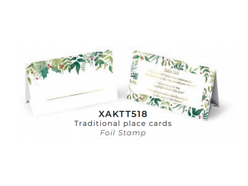 TS TRADITIONAL FOLIAGE PLACECARD