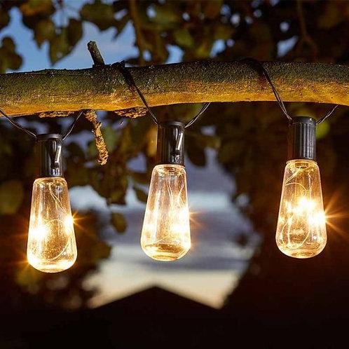 10 Eureka Vintage Lightbulb String Lights - solar