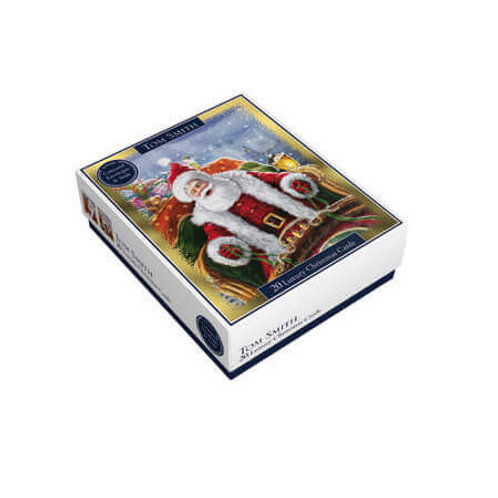 TS CARDS 20 LUX LUXURY BOXED SANTA