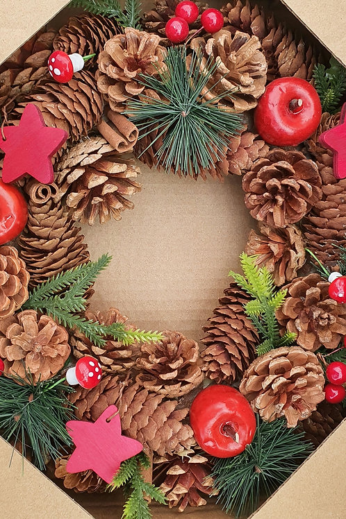 Natural Forest Woodland Wreath