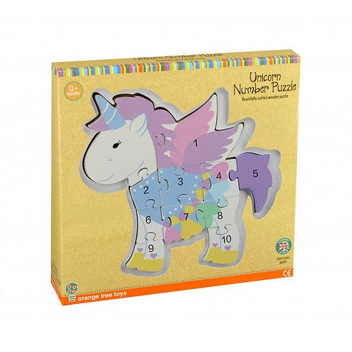 Orange Tree Toys - Unicorn Number Puzzle