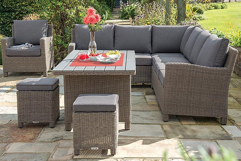 Kettler Palma Corner Set + Slat Top Table