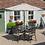 Thumbnail: Devon 4 Seat Dining Set with 2.5m Parasol