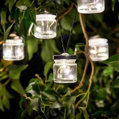 Firefly Jar String Lights - solar